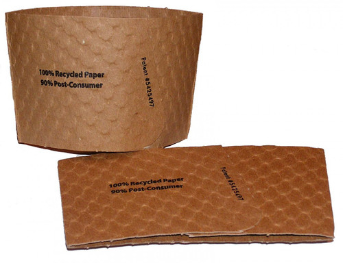 Recycled Cup Sleeves to Fit 8 Ounce Cup   Java Jacket   1300 count
