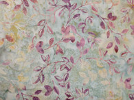 """2579-236, Tanzanite, Bali Handpaints by Hoffman, Light grey background with hint of green, allover leaf design, 100% premium cotton, 42"""" wide"""