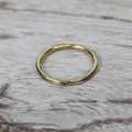 14 carat gold plated sterling silver stacking ring