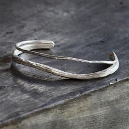 Silver delicate cuff bracelet