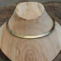 Matte brass minimalist collar necklace