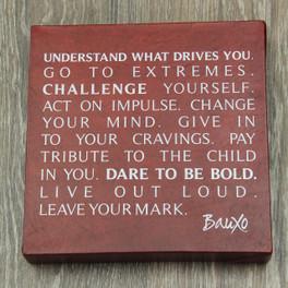 challenge leather art