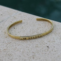"Brass ""be brave"" adjustable inspirational bracelet"