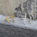 14 carat gold plated and sterling silver minimalist rings