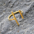 14 carat gold plated minimalist ring