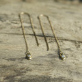 delicate gold filled chain threader earrings with white stone detail