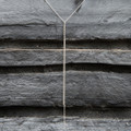 delicate sterling silver chain lariat necklace with raw diamond detailing