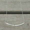 sterling silver delicate chain bar necklace with black stone detailing