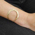 textured adjustable brass cuff