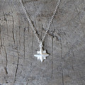 delicate silver necklace with nautical star pendant