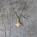 delicate gold necklace with nautical star pendant