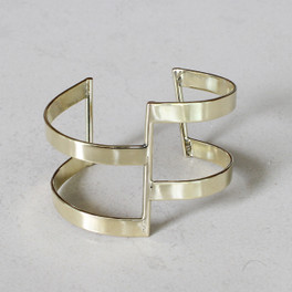 Stunning adjustable brass statement cuff.