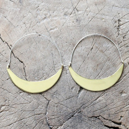 Statement brass hoop earrings