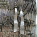 Wavy silver drop earrings with sterling silver posts