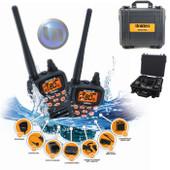 UNIDEN 80 Channel Ready 5 Watt Waterproof Handheld UHF Tradies Pack - VOX - CTCSS - Roger Beep