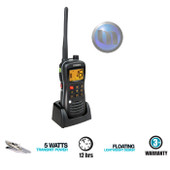 UNIDEN VHF Marine Handheld - 5 Watt - Submersible / Waterproof to JIS8* - Floating, Lightweight Design**