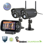 UNIDEN 2 Camera Digital Wireless Surveillance System - Weatherproof Camera - Wireless A/V Transmission