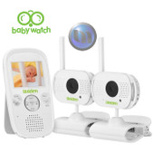 "UNIDEN 2.3"" LCD Baby Watch Wireless Monitor - 2 Cameras - Walkie Talkie Function - Night Light"
