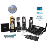 UNIDEN Xdect Cordless Phone System With 2 Additional Handsets + 1 Waterproof Handset & Charge Bases - 4 Handsets Included