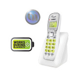 UNIDEN Dect 6.0 Digital Technology Cordless Phone System - White -   Up to 10 Hours Talk Time