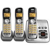 UNIDEN Dect 6.0 Digital Technology Cordless Phone System With Extra Handset & Charge Base - Black - 2 Handsets Included