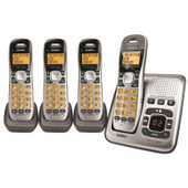 UNIDEN Dect 6.0 Digital Technology Cordless Phone System With 3 Extra Handsets & Charge Bases - 4 Handsets Included