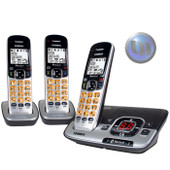 UNIDEN Premium Dect 6.0 & Bluetooth Cordless Phone System With 2 Extra Handsets - 3 Handsets Included