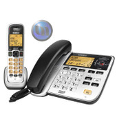 UNIDEN 2 In One Phone System - Corded Phone With 1 Cordless Handset - Premium DECT Digital - Handset Conferencing