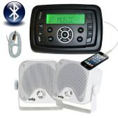 Marine MP3/USB/FM/AM Radio Bluetooth + 50W Speakers + Antenna Latest Design