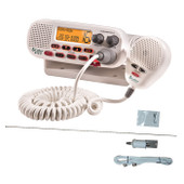 Cobra Marine VHF 25W Radio + S/Steel Antenna + Cable