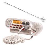 Cobra 25W Marine VHF Radio + Fibreglass Antenna + Cable