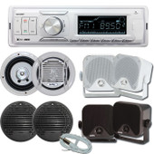 AXIS Marine Stereo Kit MA1400BT Bluetooth + 2 Pairs Speakers + Ant