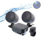 Waterproof Motorcycle/ATV Audio System-3 Inch-40W Speakers-Black