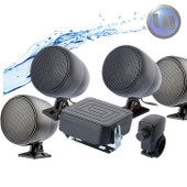 Motorcycle/ATV Waterproof Audio System-3 Inch-40W Speakers-Black