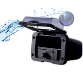 Mini Marine Waterproof Amplifier Housing - Handsfree Mini MIC -Black
