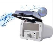 Mini Marine Waterproof Amplifier Housing - Handsfree Mini MIC - White