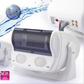 Marine Waterproof Radio Cover - DIN/Shaft - White - 3 Inch Speakers