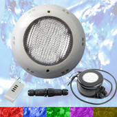 Swimming Pool LED Light RGB - Above Ground / Fiberglass Kit + Power Supply