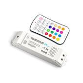 Mini RGB LED Controller + Wall Mount + RF Remote