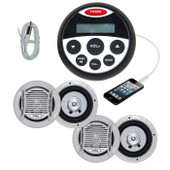 Bluetooth Marine Audio Kit MP3/USB/FM/AM/Ipod stereo + 2 x Pairs of Speaker + Antenna