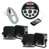 Bluetooth Marine Stereo Kit MP3/USB/FM/AUX/Ipod Radio + 4 Speakers + Ant
