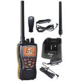 Cobra 6 Watt Floating VHF Radio with Bluetooth NOAA NEW