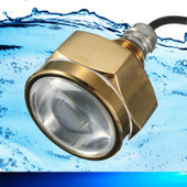 Underwater Marine Boat LED Drain Plug Light 27W Blue - Bright
