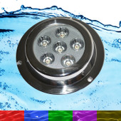 18W RGB Marine Underwater LED Boat Lights Multi-Colour + Remote NEW