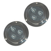 2 x 6W Underwater LED Boat Lights