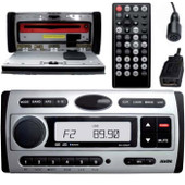 Axis WATERTIGHT MARINE DVD MULTIMEDIA BLUETOOTH SYSTEM with USB INPUT - DVD/CD/USB Player with AM/FM Receiver