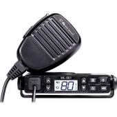 Midland 5W UHF MOBILE CB RADIO 80CH. MINI COMPACT SIZE - Backlit LCD & Keypad: Light Blue adjustable