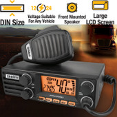 Uniden 12/24V 40CH 27MHz AM CB DIN RADIO - Large LCD Display with 2 Colour LCD - Roger Beep