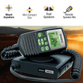 Uniden 5W Mini Compact Size UHF CB Mobile - 80 Channels with Remote Speaker MIC and Large LCD Screen