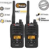 Uniden 80 Channels 2 Watt UHF Handheld Radio - Twin Pack - Range Extender Duplex Capability